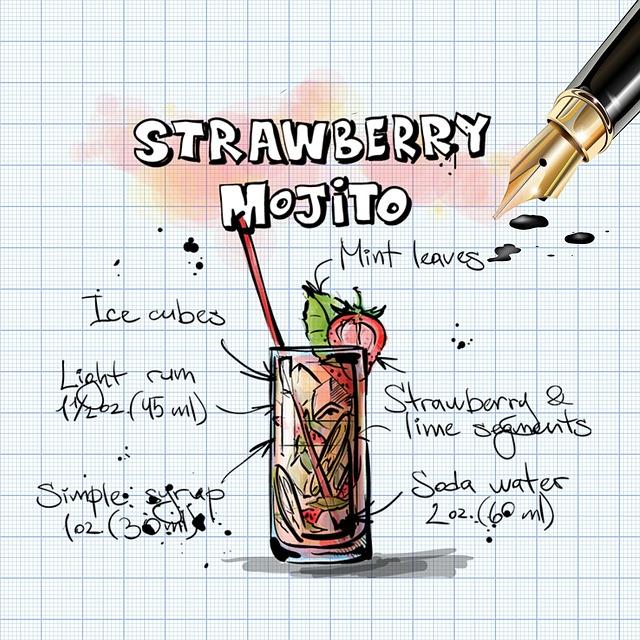 strawberry-mojito-847240_640