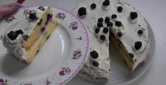 Heidelbeer Eierlikor Puddingcreme Torte